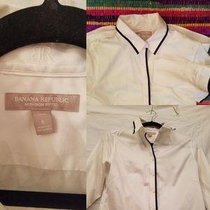 Banana republic white button down blouse